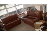 leather couch x2