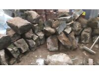 LARGE OLD STONES FROM WALL - FREE!!