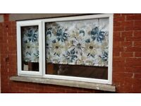 Roller blind stunning pattern. Blackout wipeable white backing. As new. Smoke child pet free home.