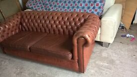 Old Antique Chesterfield sofa settee couch Delivery Poss
