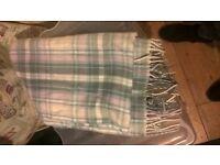 Checkered light blue scarf