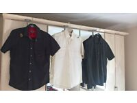 Mens designer short and long sleeve shirts x9. Sensible offers considered