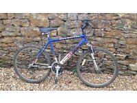 "Atlantis Mens/Teenage/Youth Blue Mountain Bike, 26"" wheels, 18 Gears"