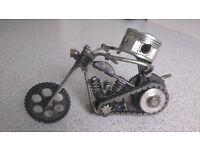 "custom made out of engine parts motor bike art ""cbr1000"""