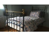 Superb Victorian Iron and Brass Bedstead