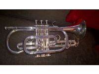 Cornet-John Packer Model-JP171SWS-in-Silver with John Packer Mouthpiece & bag