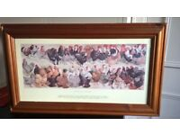 fun framed poultry print