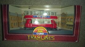 corgi tramlines collection - 1 boxed model bus set