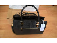 ASOS Black Croc Handbag - brand new