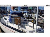REDUCED FOR QUICK SALE. Yacht Cobra 750 sailing cruiser bilge keel