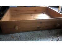 Solid pine underbed drawers