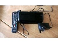 Sundry TV accessories - Scart cables, 3way scart switch, set top box, universal remote