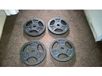 4 x 7.5kg Tri GripCast Iron Weight Plates