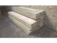 44 Used 6x1 Smooth Concrete Gravel Boards Fence Base Panels