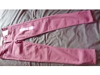 Skinny jeans size 6 brand new (wine colour)