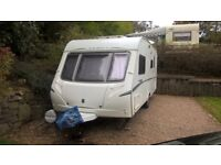 Abbey GTS 416 touring caravan with lightweight porch awning. 2007. Cris reg.