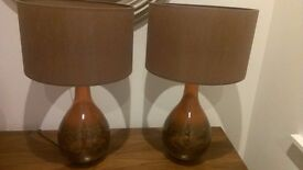 2 x stunning large lamps