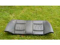 1/2 BMW 3 Series Saloon Black leather rear seat bench
