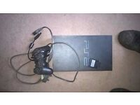 ps2 console with controller memory card and plug no aerial lead though £10