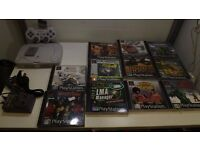 Playstation 1 console 11 games, 1controller, mem card all wires and 1 Months warranty