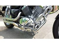 yamaha virago 535 motorbike cuctom chopper cruiser black xv535 a2 restricted licence compatible