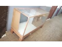 For Free - Large vintage glass display cabinet counter