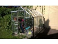 "GREENHOUSE 6' X 8' X 6'6"" high at centre"