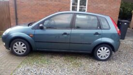 FOR SALE - Ford Fiesta. Colour Green. Low Mileage