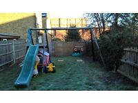 Climbing frame & swings