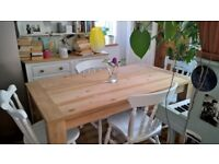 Dining table 4 pine chairs Free local delivery