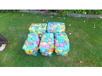 5 bags of Multi-coloured Ball pool balls