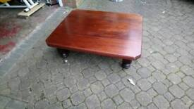 Dark wood antique coffee table