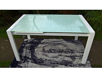 Ex-display Extending Glass Dining Table.