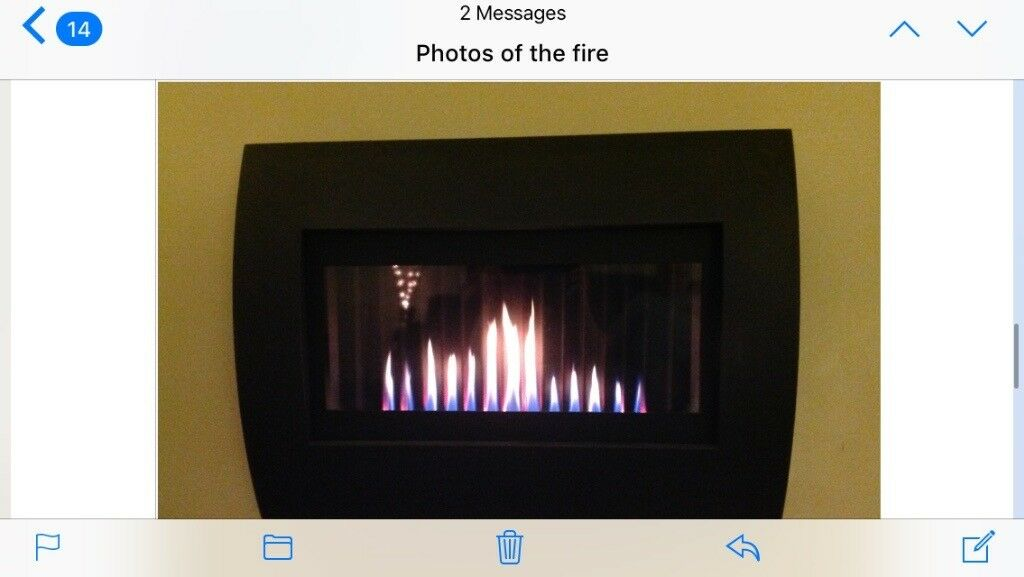 Gas fire flavel remote controlled