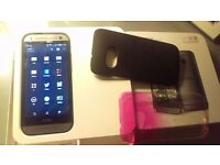 HTC One mini 2 - Unlocked, Very Good Condition, Boxed + 3 covers