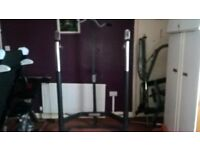 Marcy Commercial Grade Squat Rack With Lat Tower & Attachments
