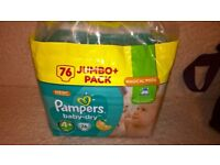 Pampers Baby Dry Nappies size 4+ 2 x Jumbo pack of 76 (152) £10