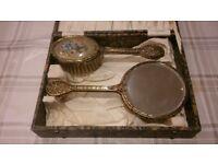 Vintage vanity cased set