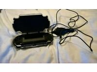 PlayStation Portable With Car Charger Cable And Logictech Shockproof Case Included