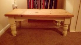 Lovely solid pine farmhouse coffee table