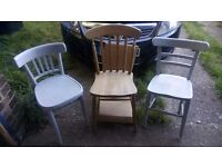 3 x WOODEN Chairs
