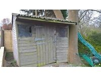*** FREE *** 2.7M / 9ft Wooden Shed - located in Hurspierpoint - See advert for details