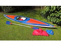 Superb condition 4.4 metre Canoe / Kayak for sale - complete with paddle and waterproofs
