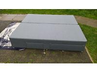 Ex-display 6 ft Grey Super King Size Divan Bed base.
