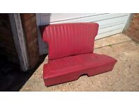FORD ANGLIA- rear seat complete RED