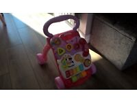 VTech first steps Interactive baby walker – Pink. Collection only.