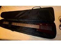 Hohner B2AV 5 string headless bass + gigbag
