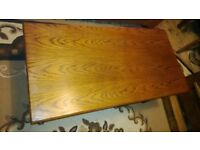 Solid Dark Hard Oak Coffee Table