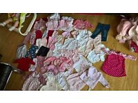Huge bundle of baby girl clothes used but in good condition