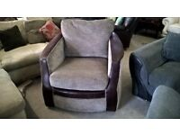 Large armchair in Brown Beige Fabric Delivery Poss